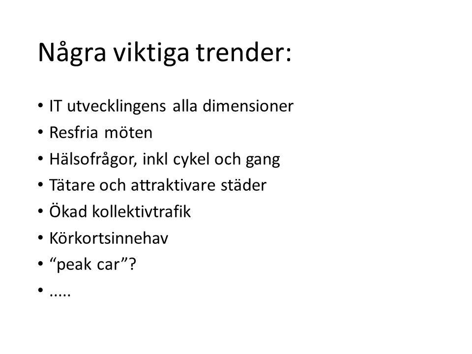 Några viktiga trender: