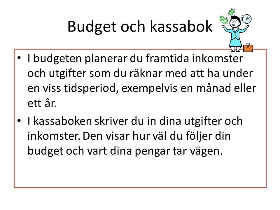 Budget och kassabok