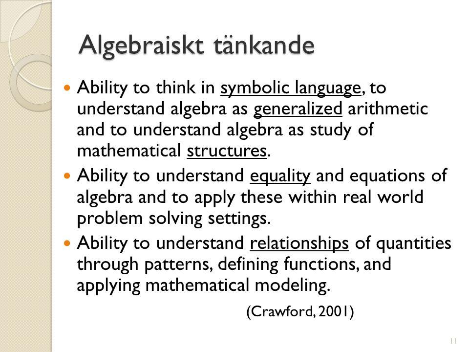 Algebraiskt tänkande