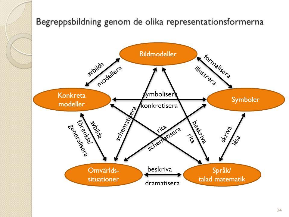 Begreppsbildning genom de olika representationsformerna