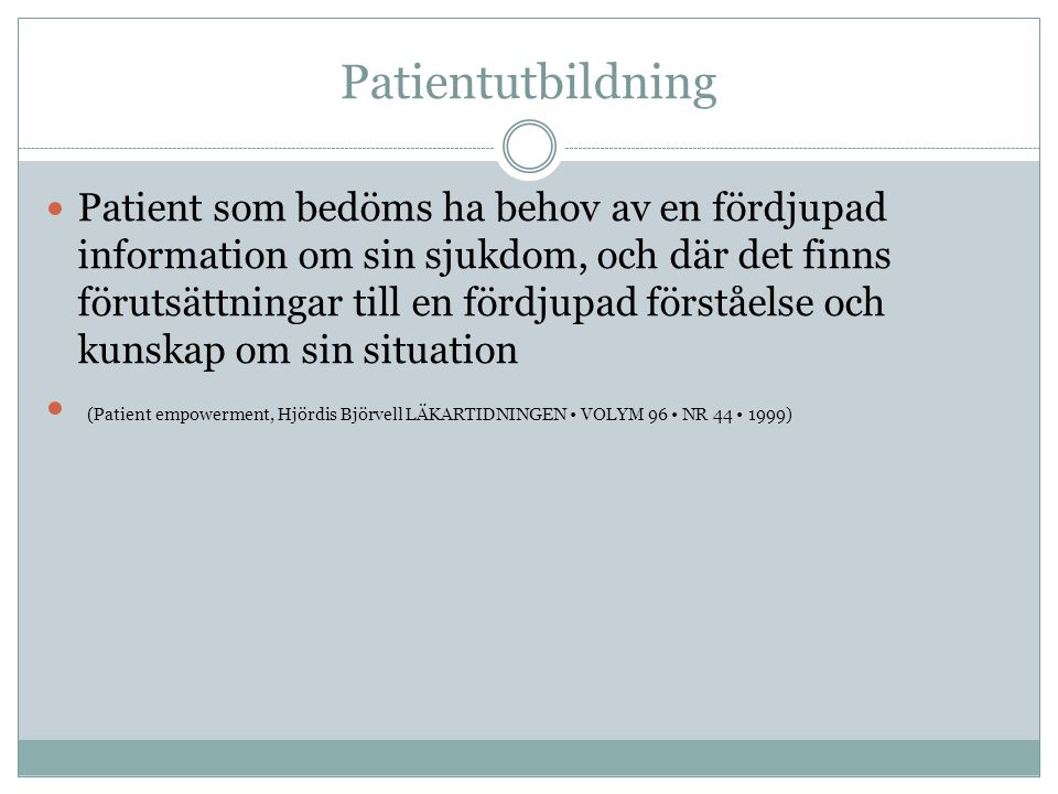 Patientutbildning