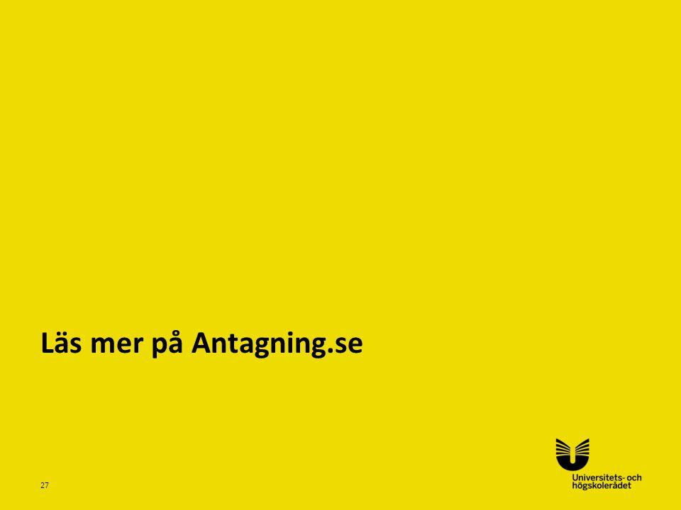Läs mer på Antagning.se