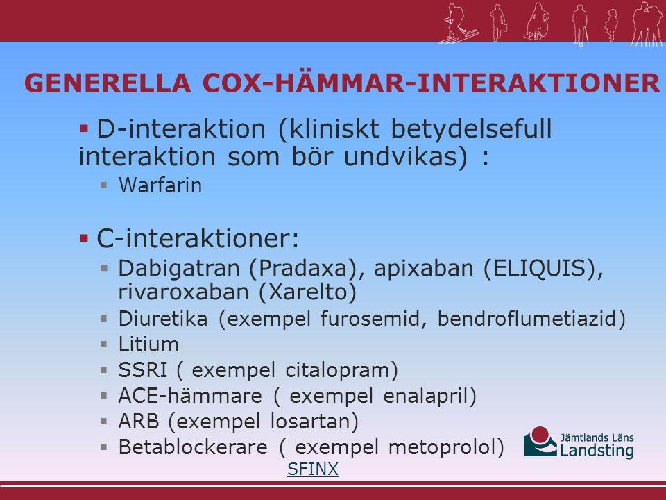 Generella COX-hämmar-interaktioner