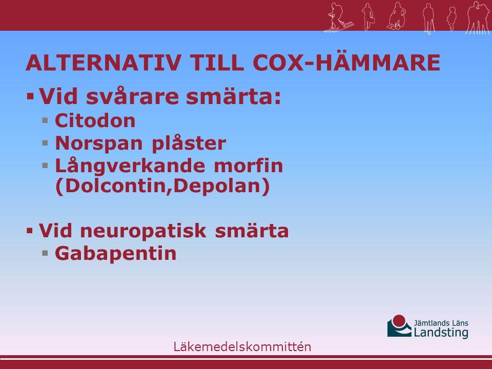 Alternativ till COX-hämmare