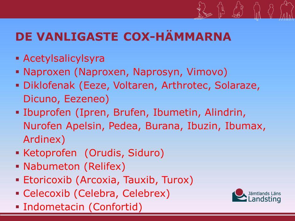 De vanligaste Cox-hämmarna