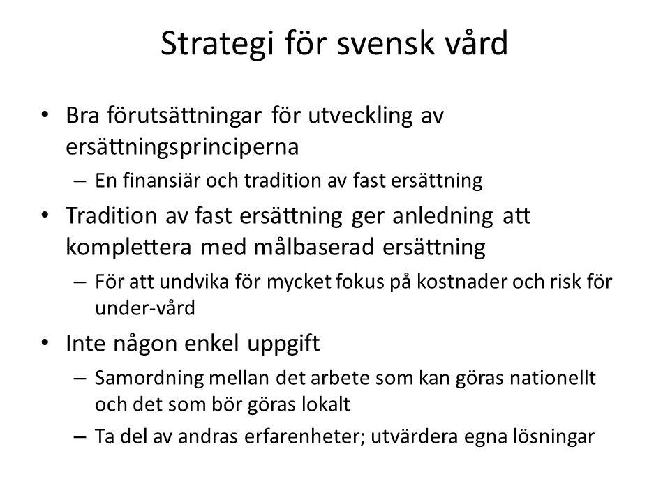 Strategi för svensk vård