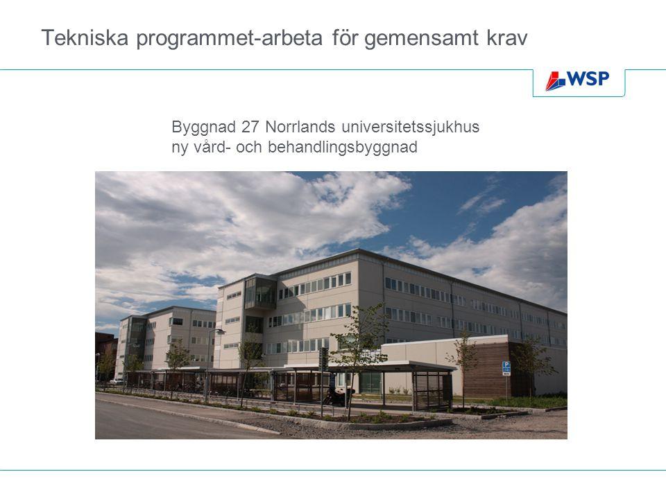 Tekniska programmet-arbeta för gemensamt krav