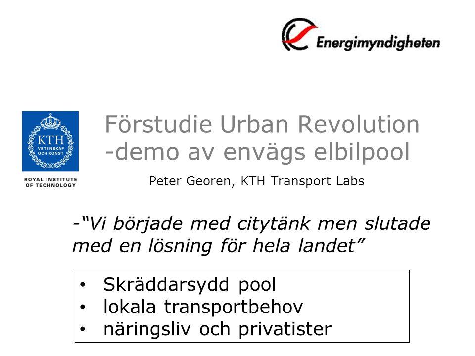 Förstudie Urban Revolution -demo av envägs elbilpool