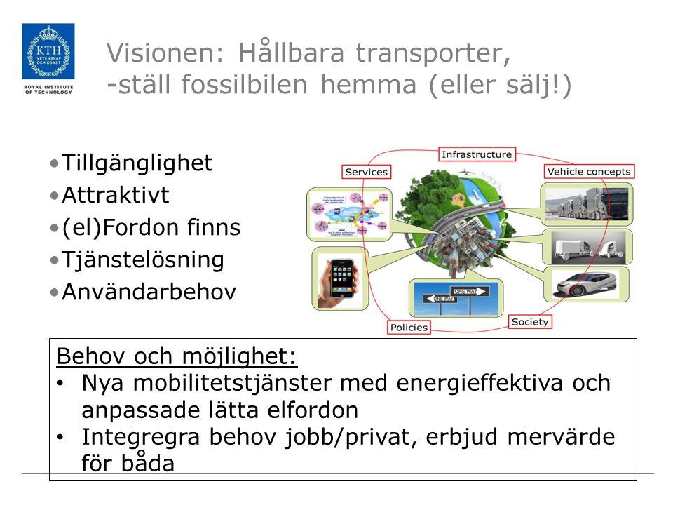 Visionen: Hållbara transporter, -ställ fossilbilen hemma (eller sälj!)
