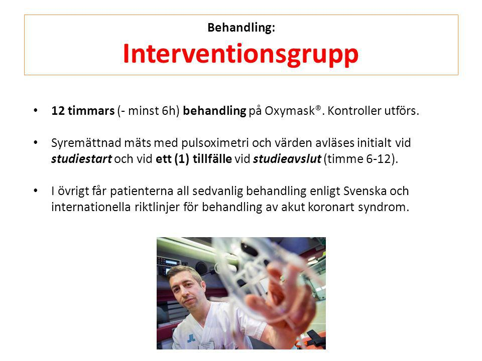 Behandling: Interventionsgrupp