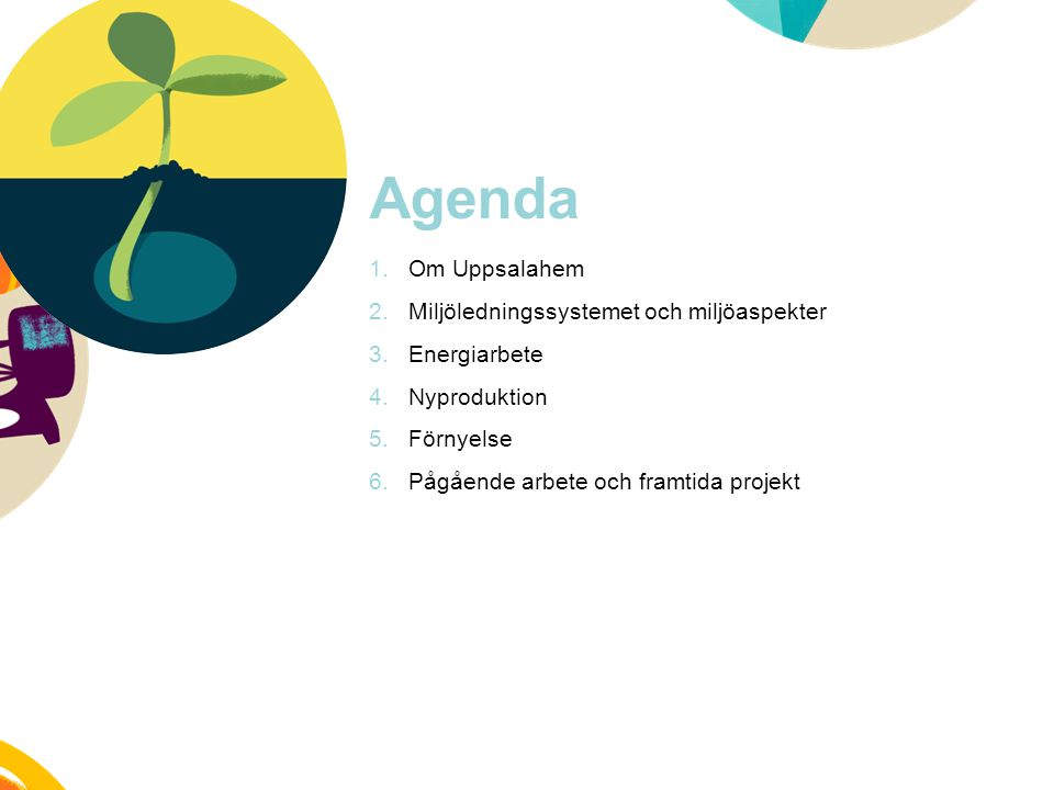 Agenda Om Uppsalahem Miljöledningssystemet och miljöaspekter