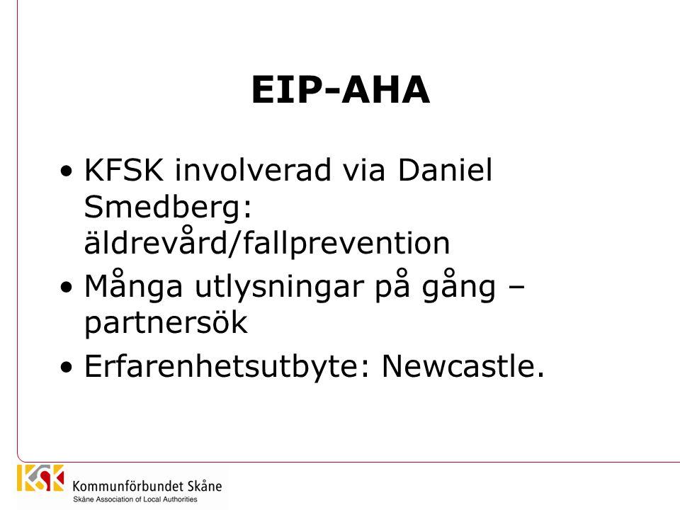 EIP-AHA KFSK involverad via Daniel Smedberg: äldrevård/fallprevention