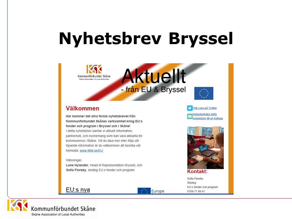 Nyhetsbrev Bryssel