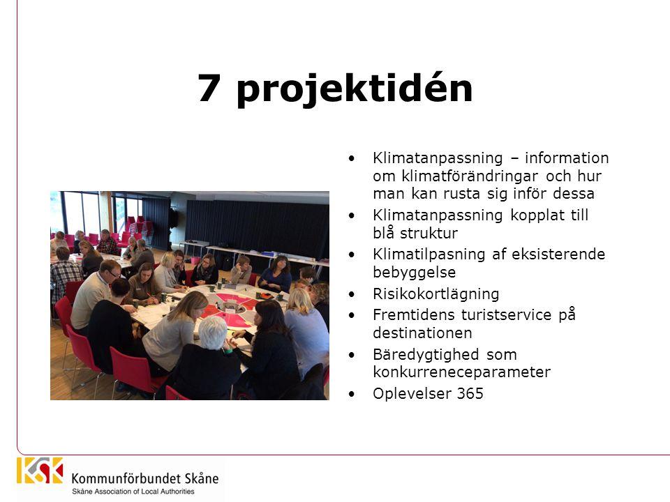 7 projektidén Klimatanpassning – information om klimatförändringar och hur man kan rusta sig inför dessa.