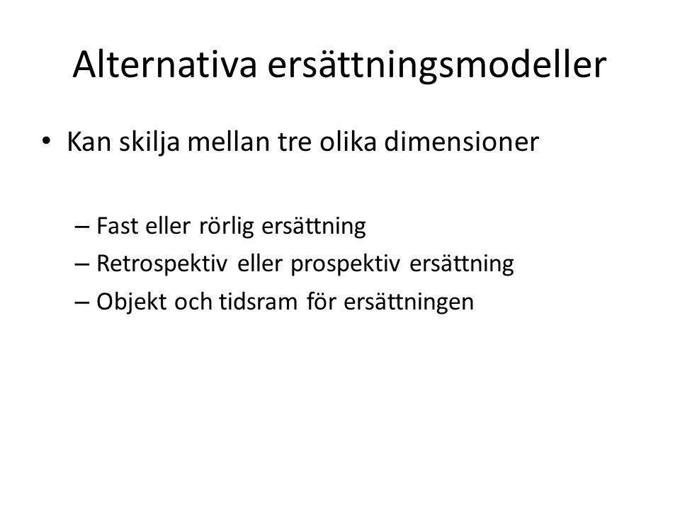 Alternativa ersättningsmodeller