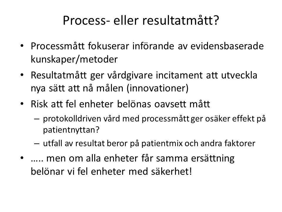 Process- eller resultatmått