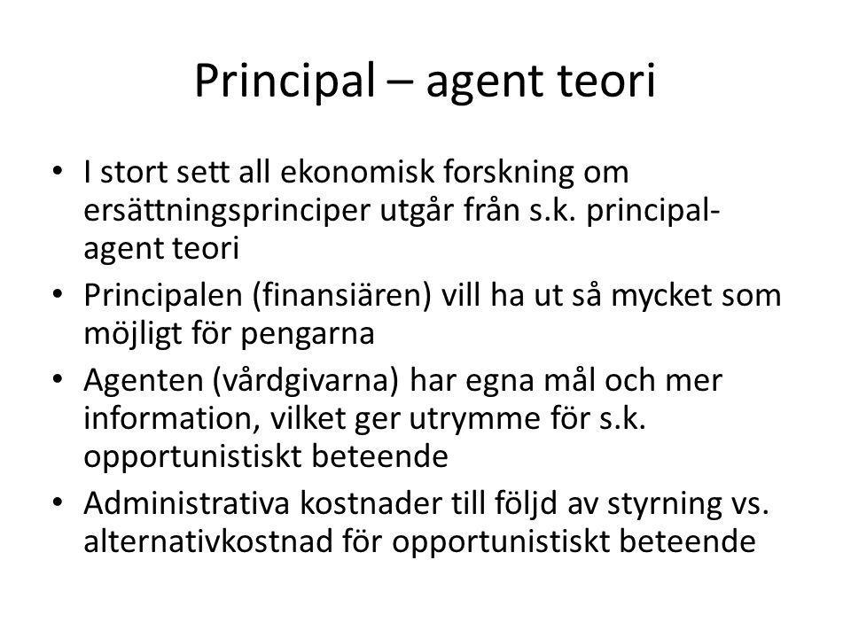 Principal – agent teori