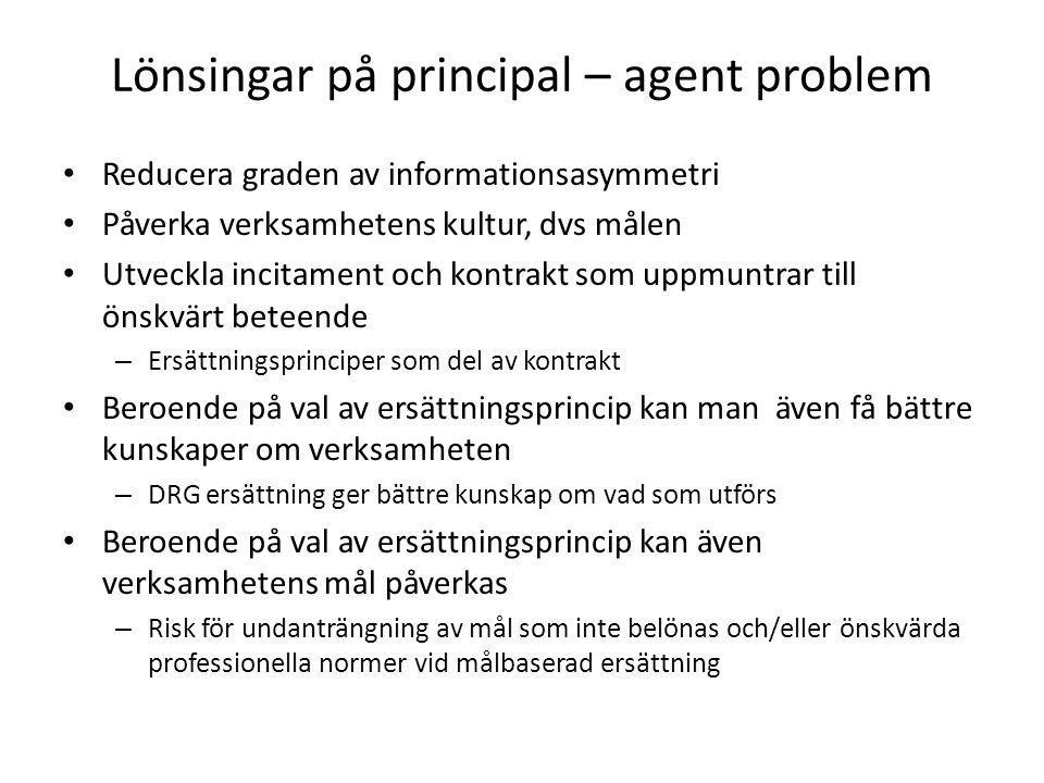 Lönsingar på principal – agent problem