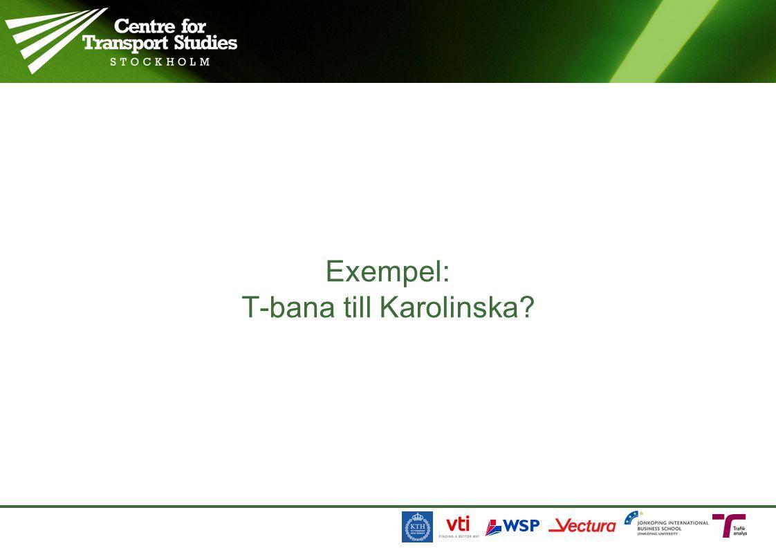 Exempel: T-bana till Karolinska