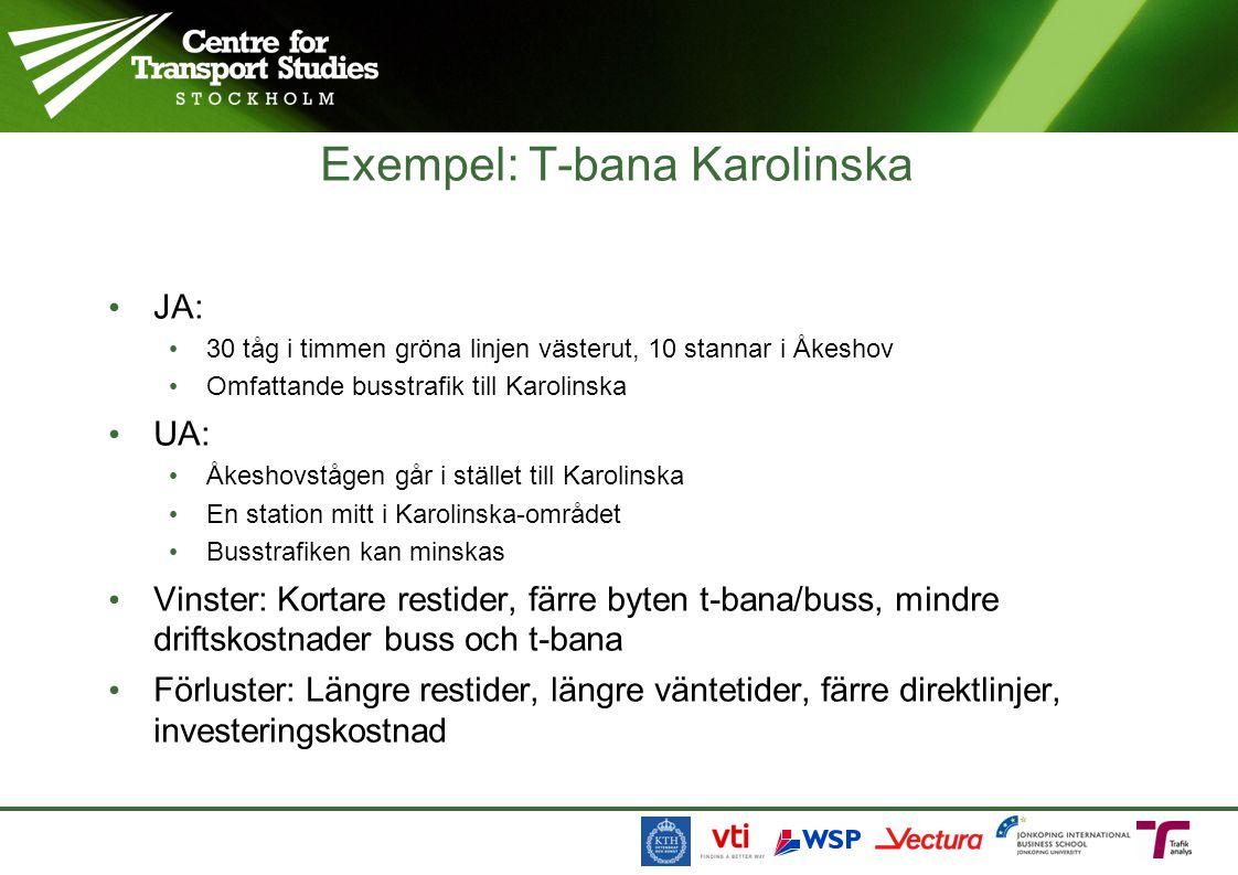 Exempel: T-bana Karolinska