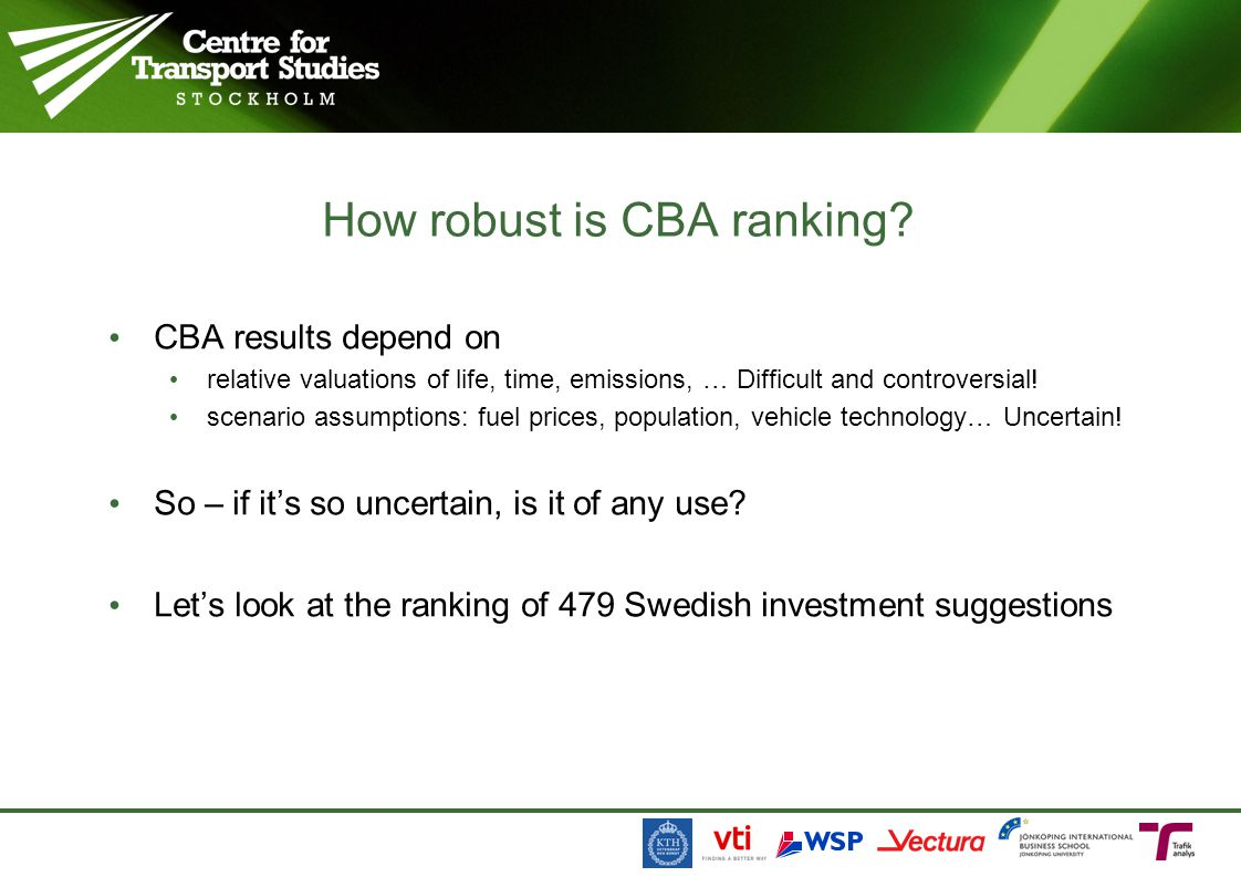 How robust is CBA ranking
