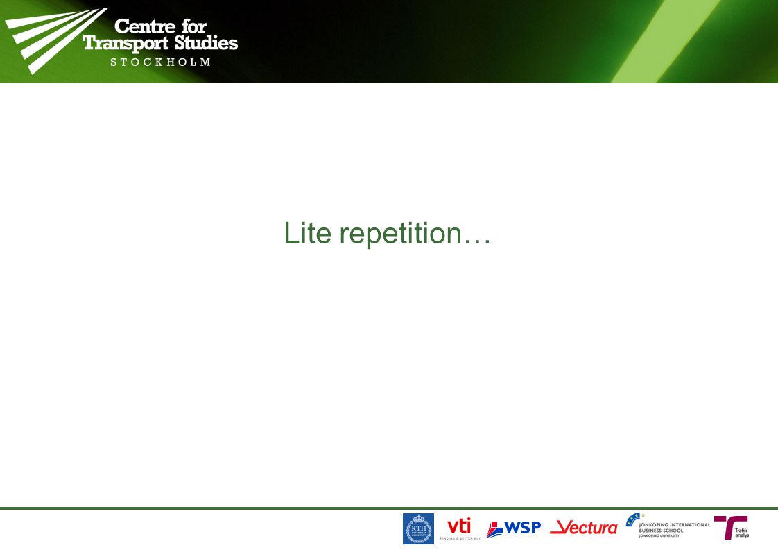 Lite repetition…