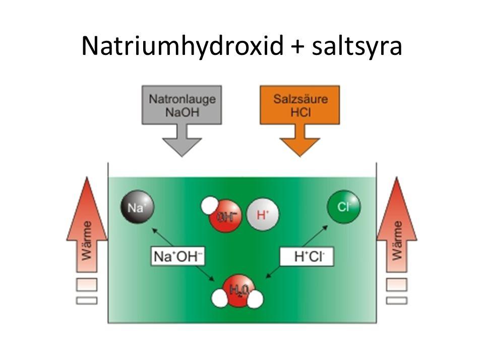 Natriumhydroxid + saltsyra