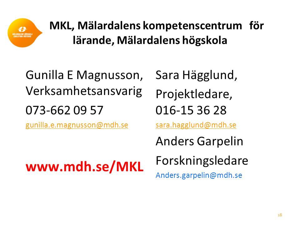 MKL, Mälardalens kompetenscentrum för lärande, Mälardalens högskola