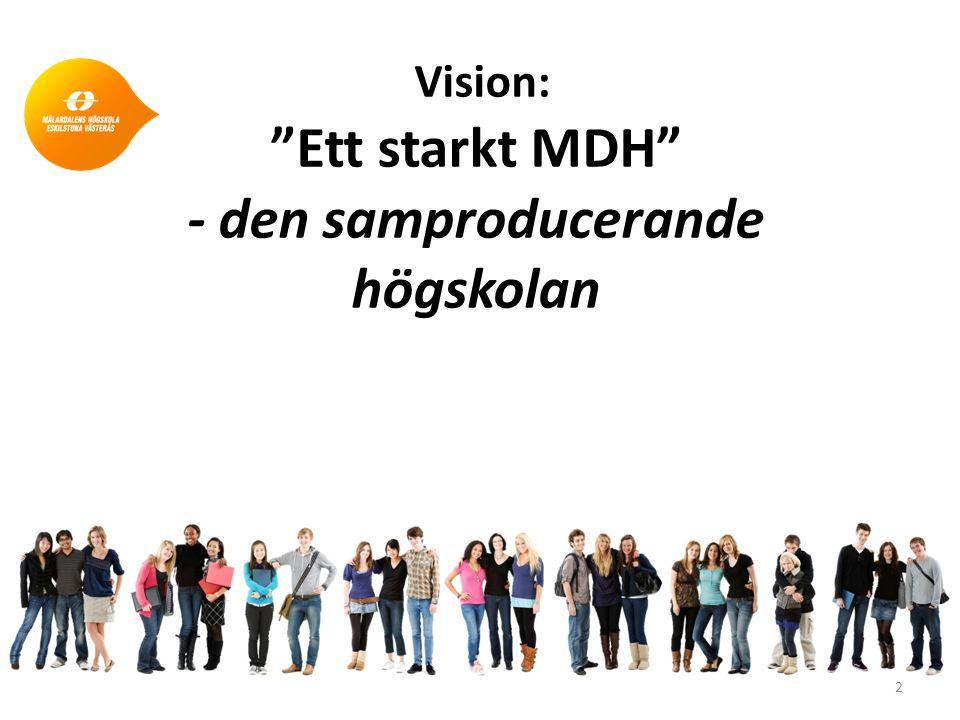 Vision: Ett starkt MDH - den samproducerande högskolan