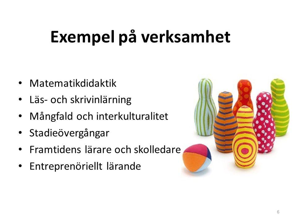 Exempel på verksamhet Matematikdidaktik Läs- och skrivinlärning