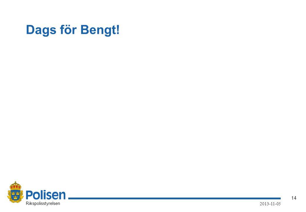 Dags för Bengt!