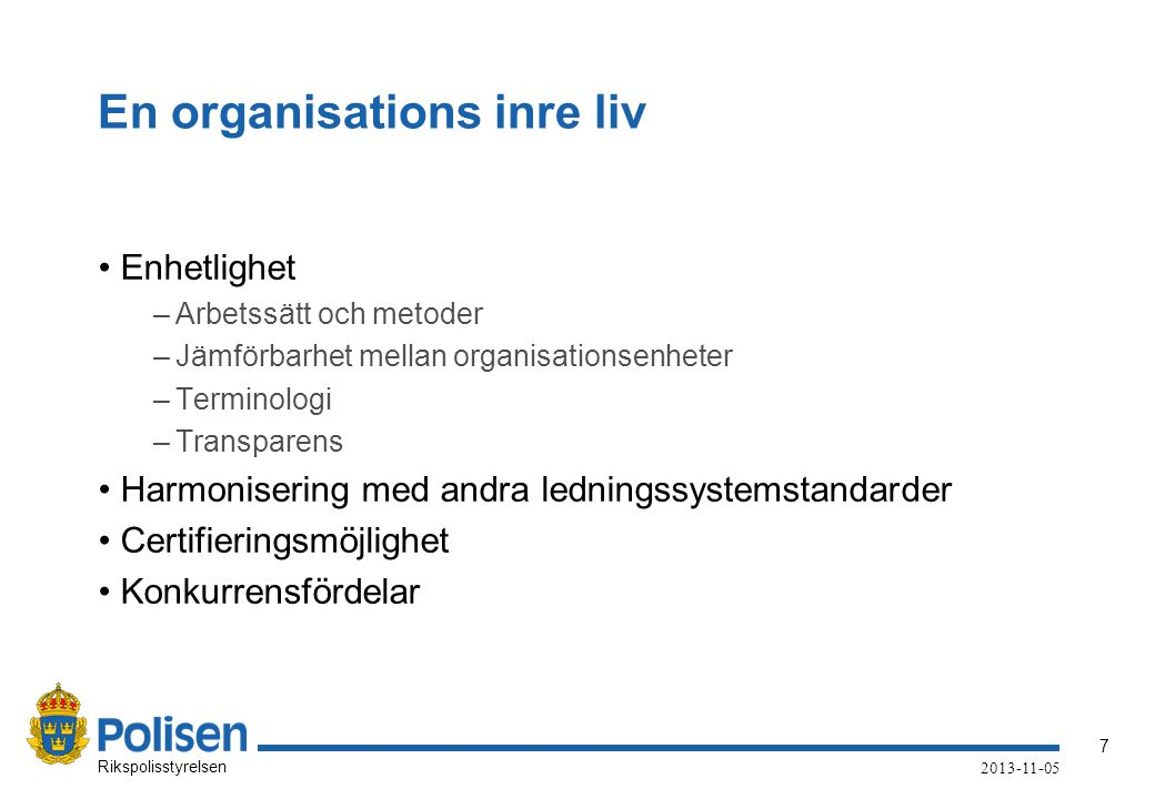 En organisations inre liv