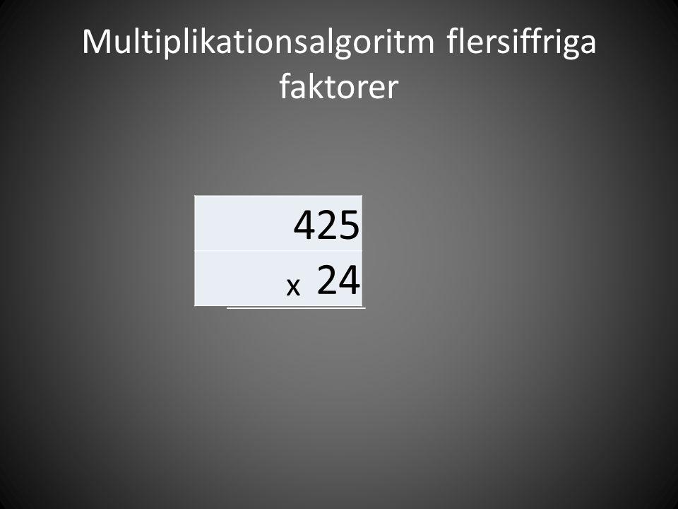 Multiplikationsalgoritm flersiffriga faktorer