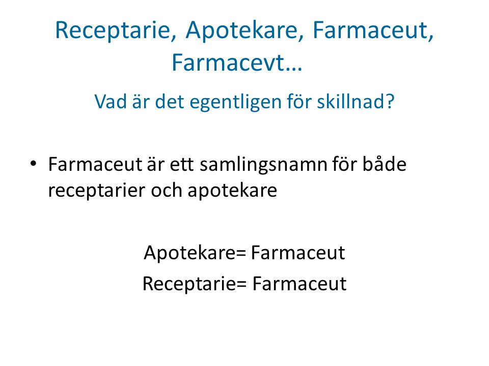Receptarie, Apotekare, Farmaceut, Farmacevt…