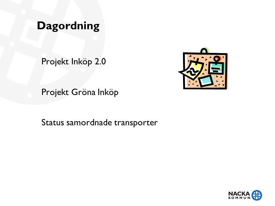 Dagordning Projekt Inköp 2.0 Projekt Gröna Inköp