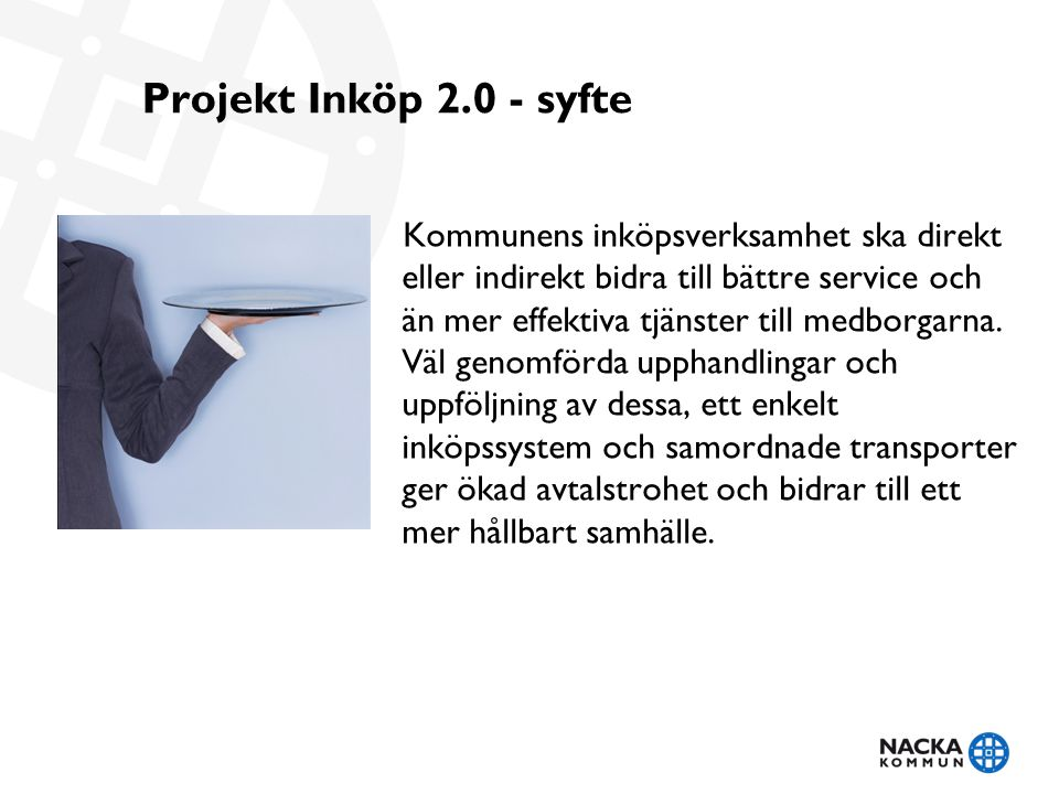 Projekt Inköp 2.0 - syfte