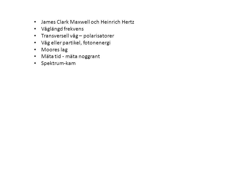 James Clark Maxwell och Heinrich Hertz