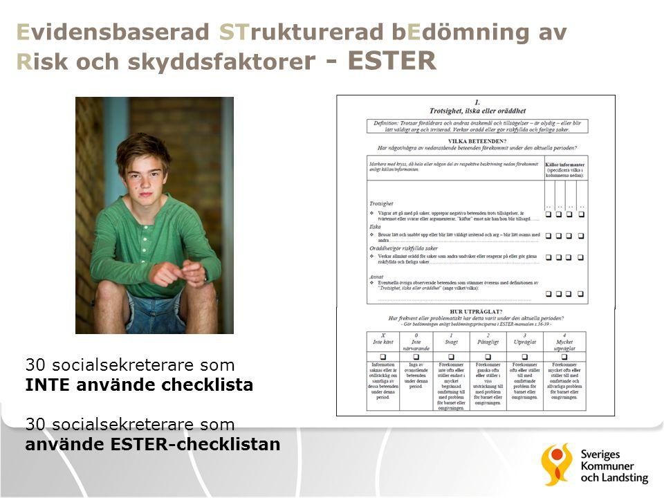 Evidensbaserad STrukturerad bEdömning av Risk och skyddsfaktorer - ESTER