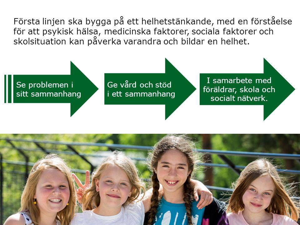 I samarbete med föräldrar, skola och socialt nätverk.