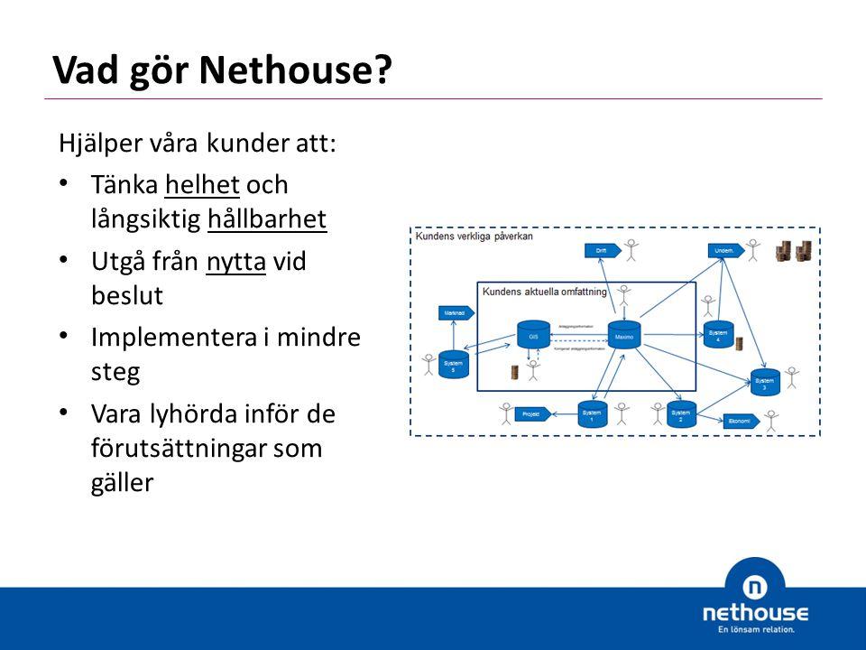 Vad gör Nethouse Hjälper våra kunder att: