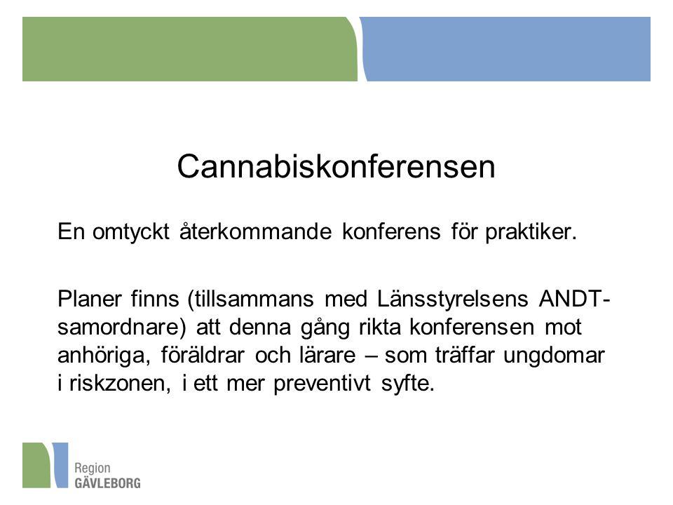Cannabiskonferensen En omtyckt återkommande konferens för praktiker.
