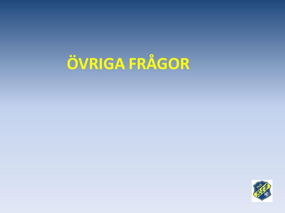 ÖVRIGA FRÅGOR