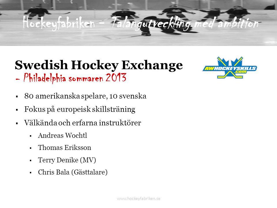 Hockeyfabriken - Talangutveckling med ambition