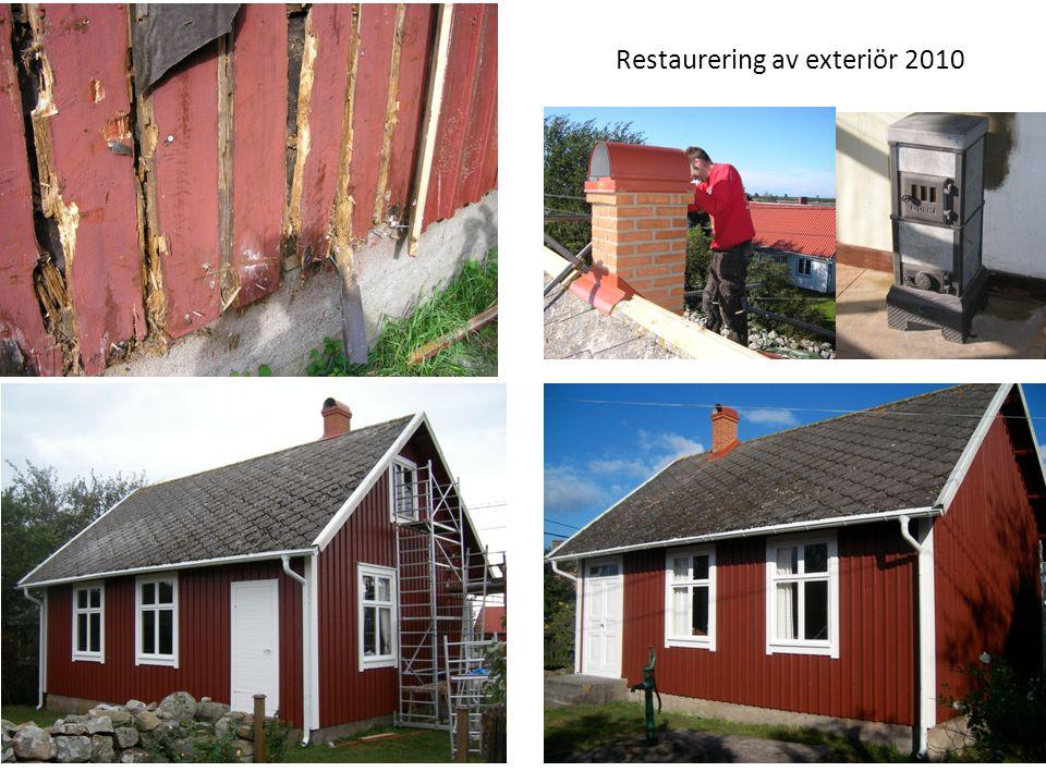 Restaurering av exteriör 2010