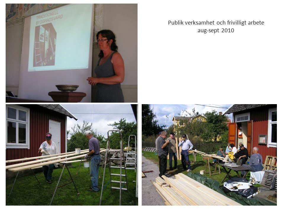 Publik verksamhet och frivilligt arbete aug-sept 2010