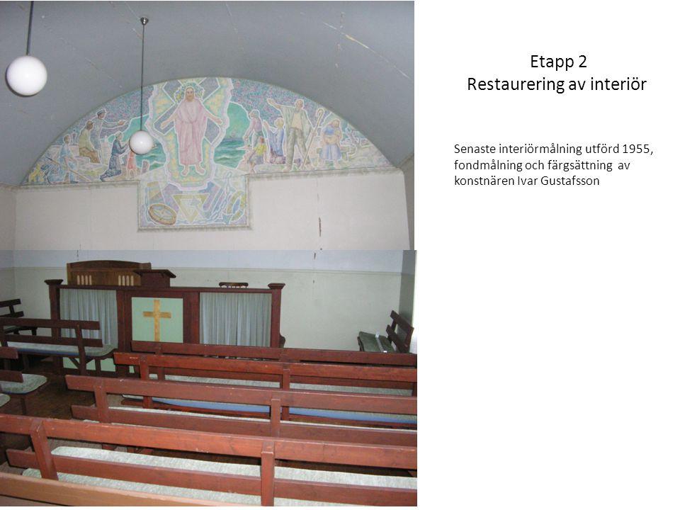 Etapp 2 Restaurering av interiör