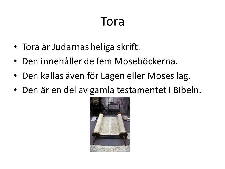 Tora Tora är Judarnas heliga skrift.
