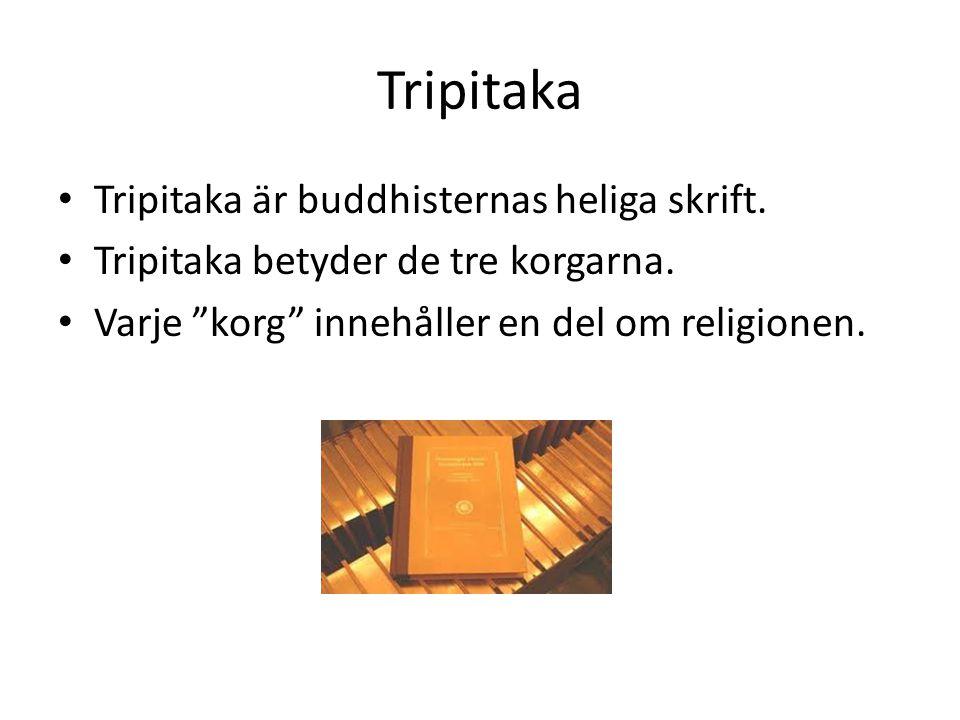Tripitaka Tripitaka är buddhisternas heliga skrift.