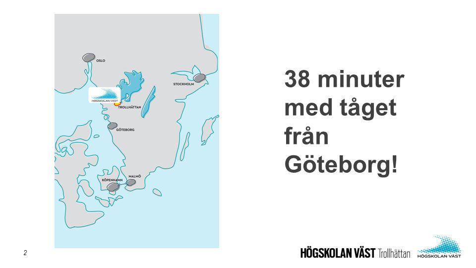 38 minuter med tåget från Göteborg!