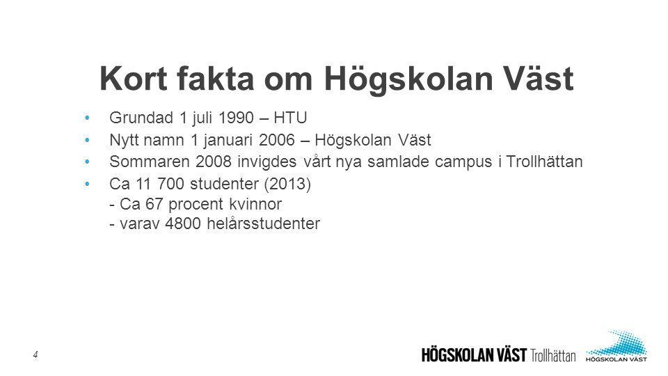 Kort fakta om Högskolan Väst